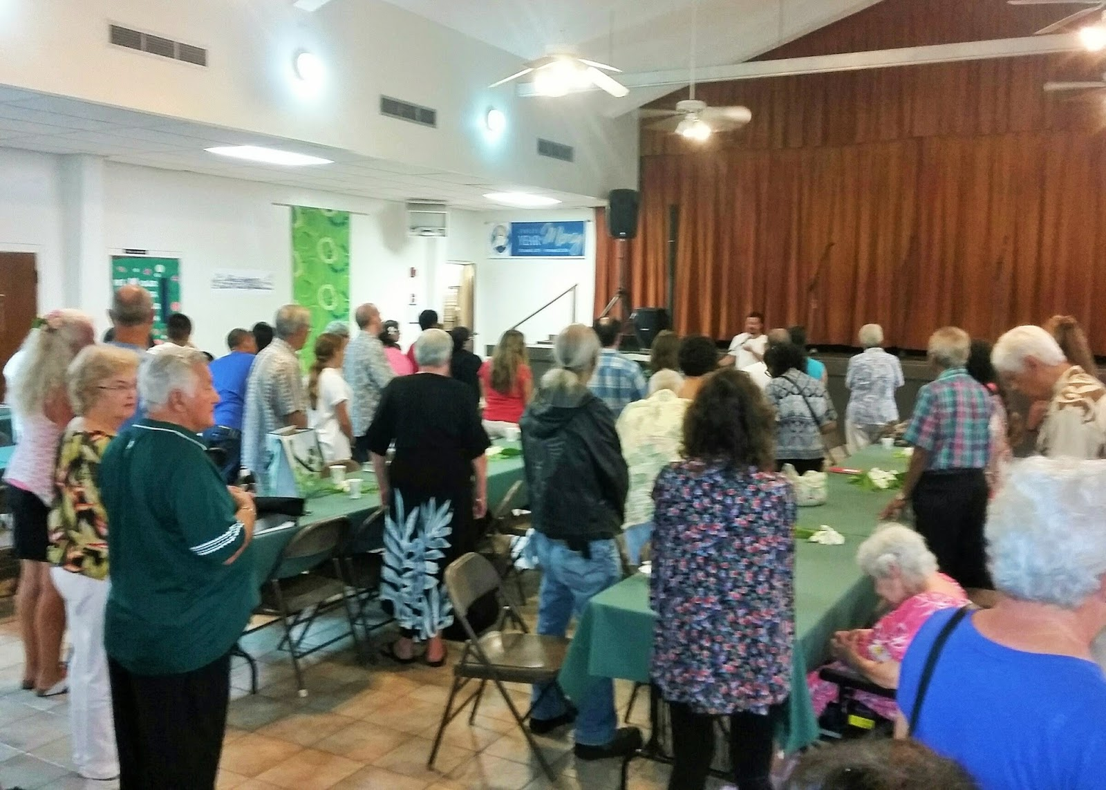 Parishioners of st anthony of padua church in kailua celebrating the feast