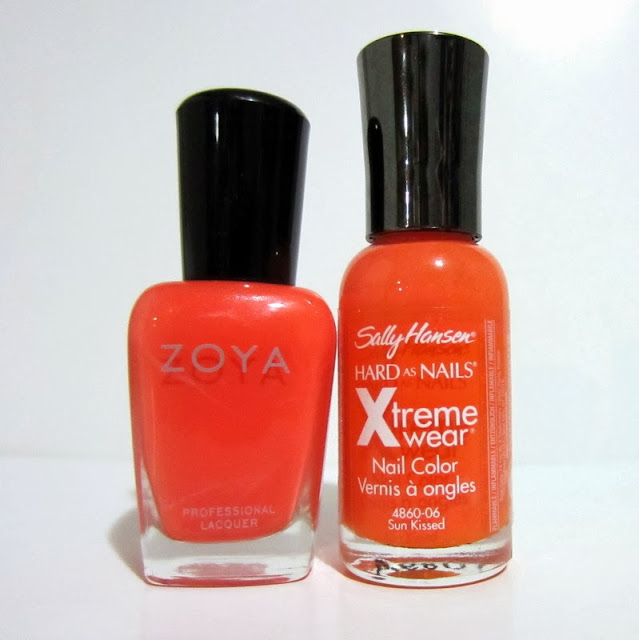 Zoya Thandie Comparison Sally Hansen Sun Kissed Comparison