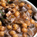 Ragoût de pois chiches, champignons et romarin