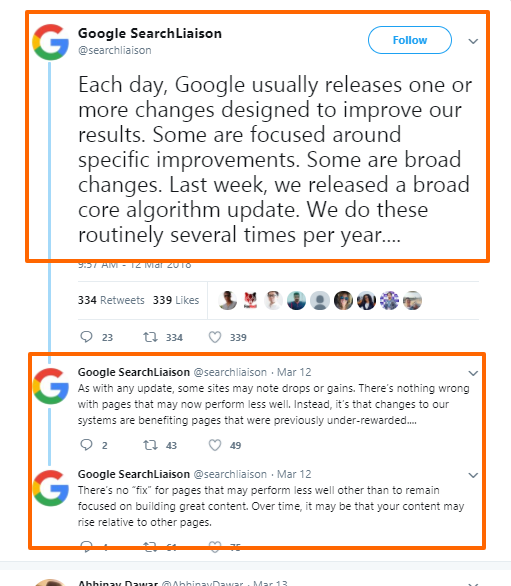 (March 2018)Google New Update In Hindi: Core Search Ranking Algorithm Update In Hindi