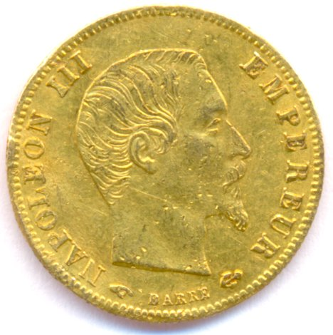 France Gold 5 Francs Coin Of 1860 World Banknotes Amp Coins