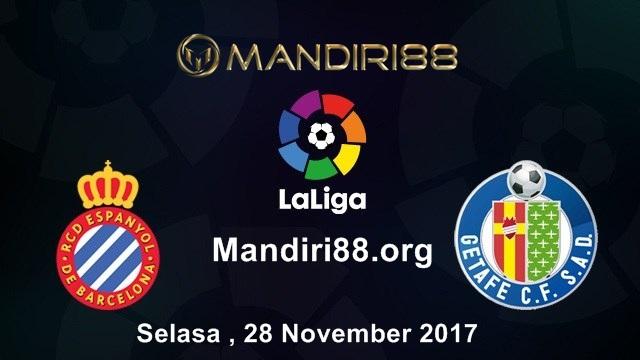 Prediksi Bola : Espanyol Vs Getafe , Selasa 28 November 2017 Pukul 03.00 WIB