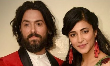 Kamal veetu Mappillai! Shruti Haasan in Aadhav Reception with her BF!