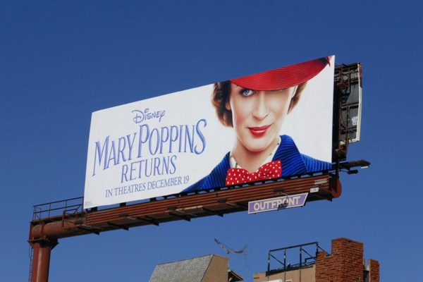Mary Poppins Returns film billboard