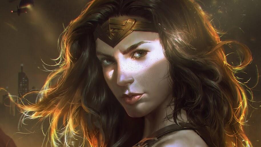 Wonder Woman, DC, Art, Superhero, 4K, #6.1338