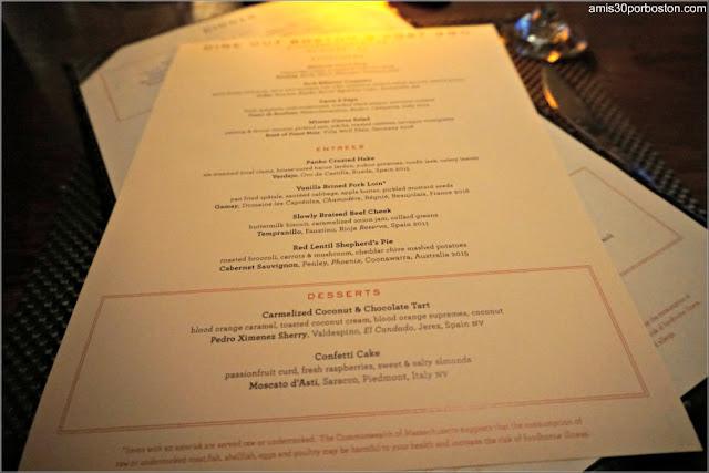 Menú de la Dine Out del Restaurante Post 390 en Boston