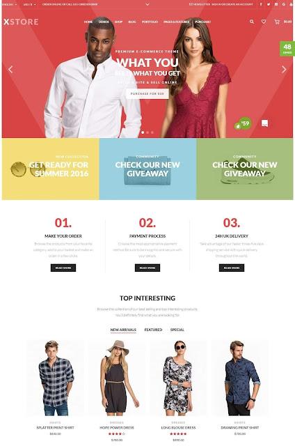 Plantilla de WordPress para Comercio Electrónico