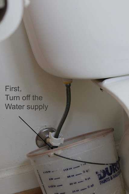 how to get the water off the toilet water tank
