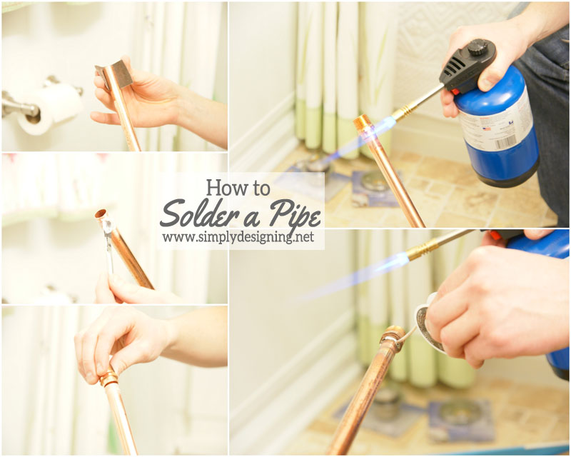 How to Solder Copper Pipe | #diy #shower #bathroom #remodel #homeimprovement