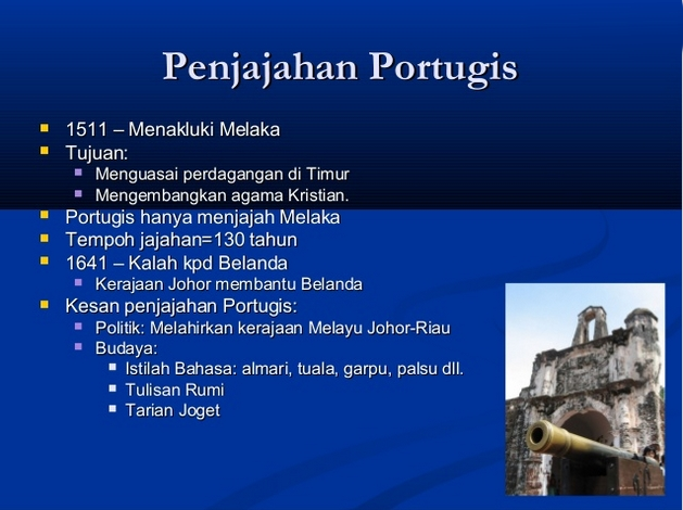 PENGAJIAN MALAYSIA: ZAMAN PENJAJAHAN DI TANAH MELAYU