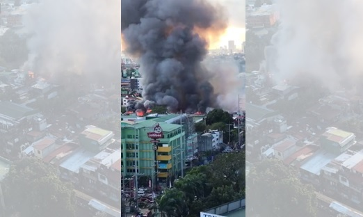 Huge fire hits residential area along E. Rodriguez Ave. in QC