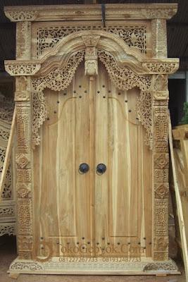 Pintu Gebyok Jati Pintu Ukir