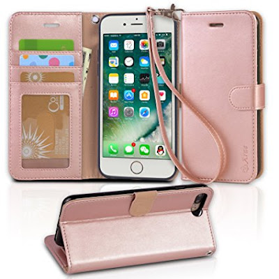 Area iPhone 8 wallet Case with Kickstand and Flip cover