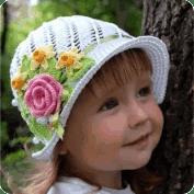 Gorro de niña a Crochet