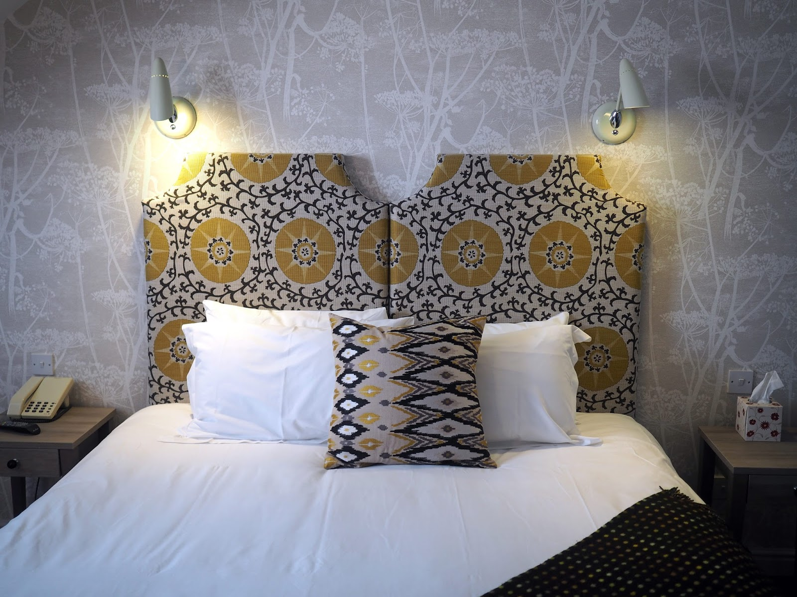 Hotel suite bedroom at Monk Bar York hotel