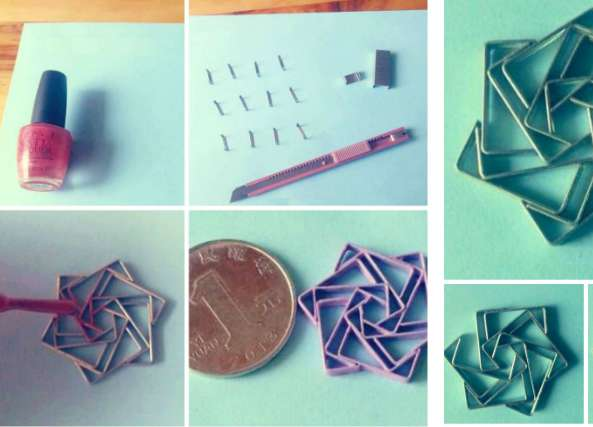 Como hacer un hexagrama con grapas