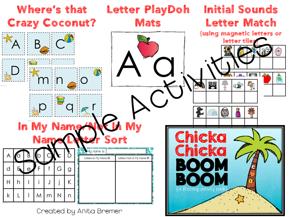 Chicka Chicka Boom Boom themed activities for Kindergarten