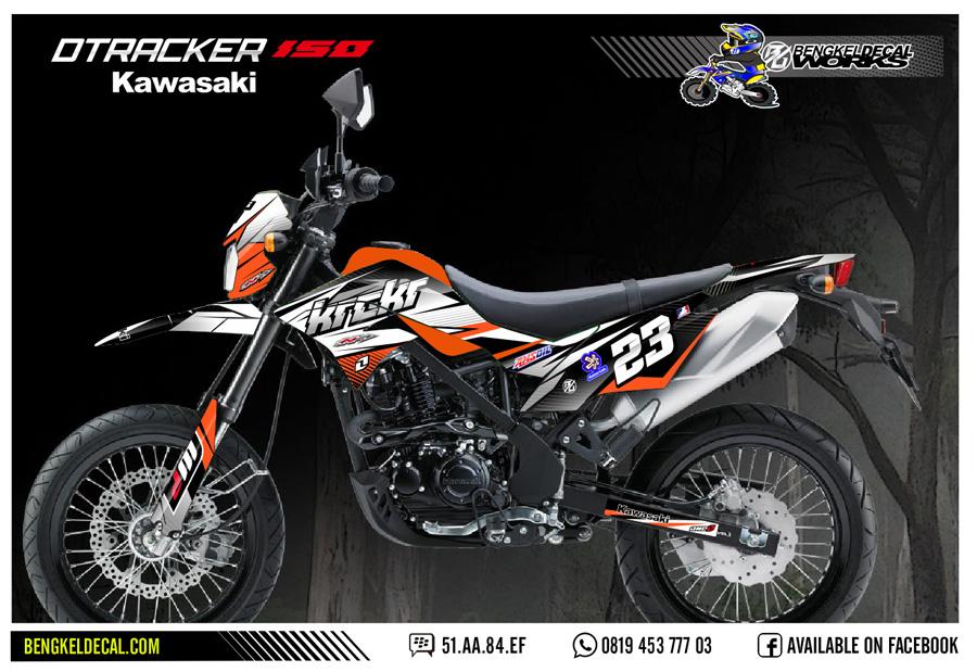 Grafis custom dtracker 150 se bisa rekues nama nomor dan sponsor sponsor kelengkapan decal bodi tangki depan belakang spakbor depan belakang