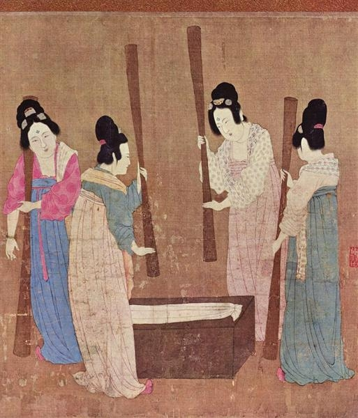 Хуэй-цзун Женщины изготавливают шелк