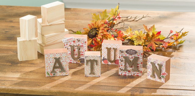 Autumn Home Decor Block Set @craftsavy, #craftwarehouse, #diy, #Autumn,#Crafts