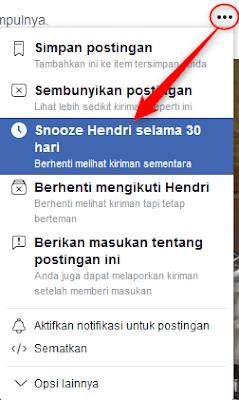 Berhenti langganan teman facebook