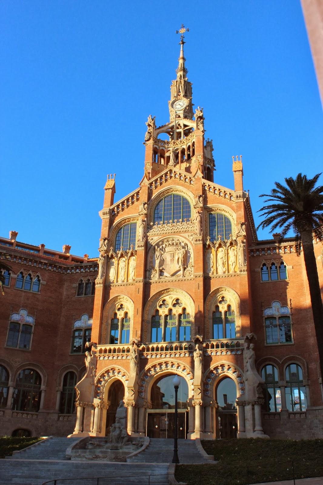 Fachada Hospital modernista de Barcelona