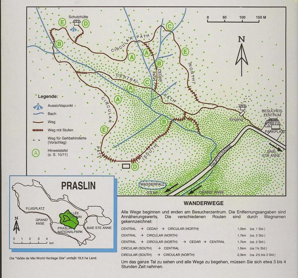 Wanderwege im Vallée de Mai