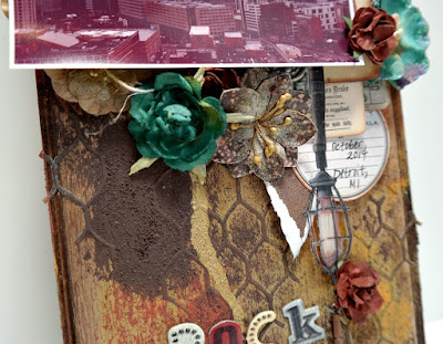 Detroit Rock City Wood Vignette Gritty Background Closeup by Dana Tatar for Scraps of Darkness