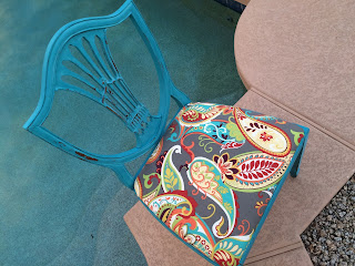 Vintage chair painted in Mermaid Tail chalk paint