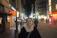 Pili por la noche en Kioto