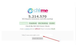 Cara cek score seo blog dengan CHKme