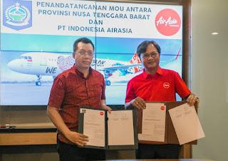Tanda Tangani MoU, Air Asia Tambah Penerbangan Langsung Perth – Lombok