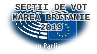 lista sectiilor de vot europarlamentare 2019 anglia uk irlanda