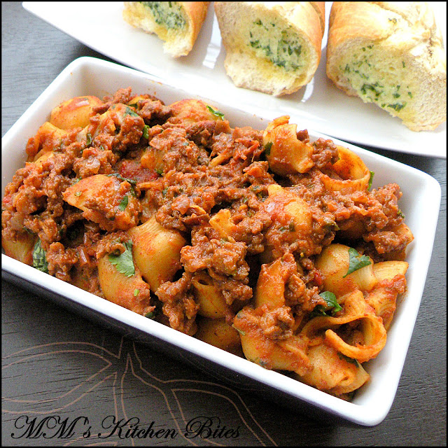Indian Bolognese Pasta mmskitchenbites
