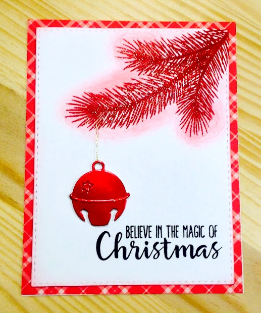 Sunny Studio Stamps: Holiday Style Silver Bells Customer Card Share by Judy Tuck