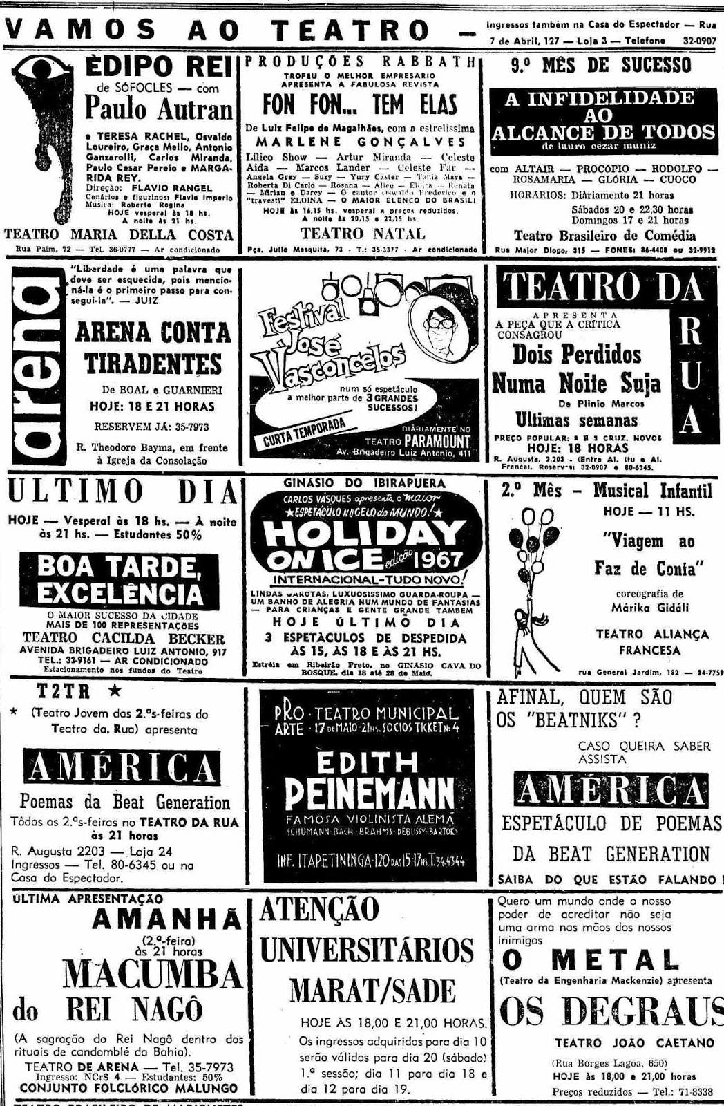 Cantor Todo Tatuado Brasileiro sao paulo night life 1950-1960: 2019