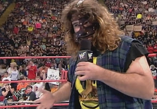 WWE / WWF - Mankind cut a promo before facing Billy Gunn later in the show