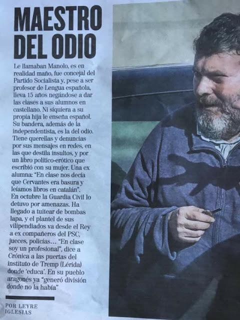 Manuel Riu Fillat, maestro del odio, loco, grillat, aventat, lloco, cacao de la facao