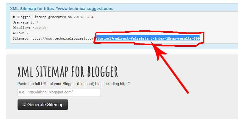 Blogger me XML sitemap kaise Generate kre