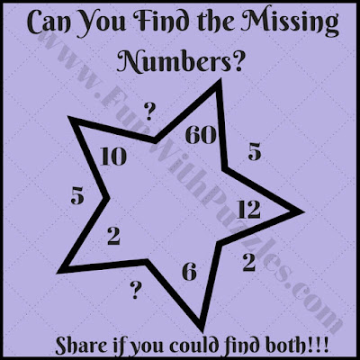 Can you find the missing numbers puzzle?