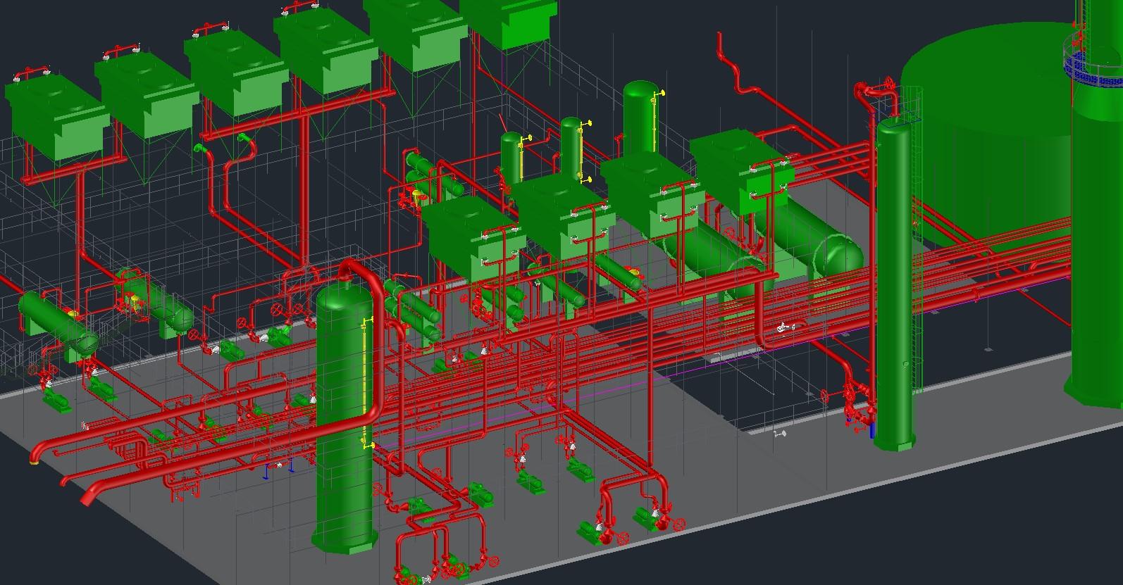 autocad plantas industriales