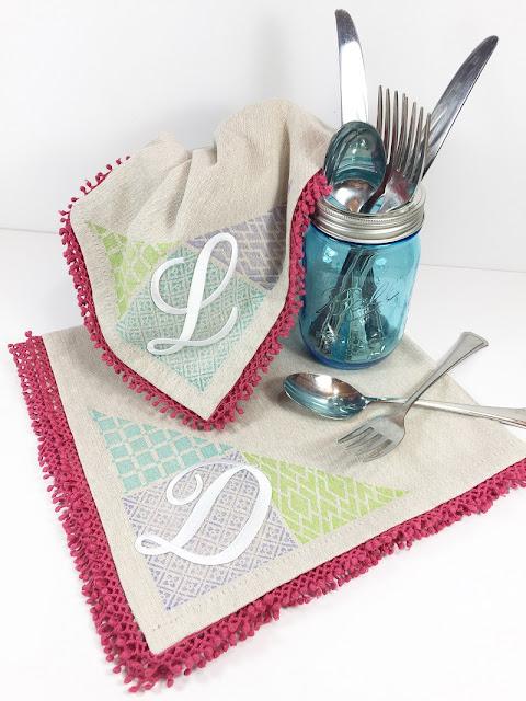 diy monogrammed napkins