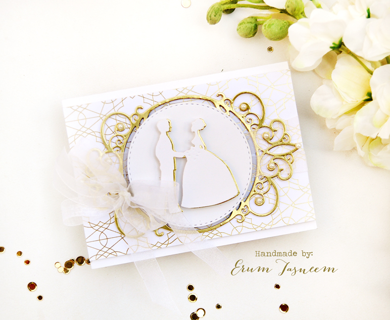 Spellbinders  Shapeabilities Tiara Rondelle Etched Dies Elegant 3D Vignettes by Becca Feeken and  Shapeabilities Layered Happily Ever After Etched Dies Elegant 3D Vignettes by Becca Feeken | Erum Tasneem | @pr0digy0