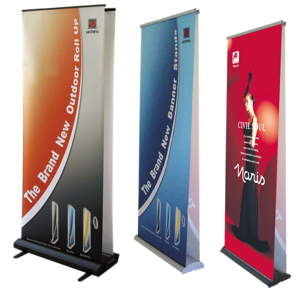 ↓ Roll-up * Stand-banners ↓