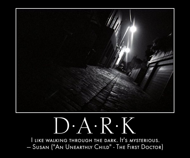 Doctor Who Quotes: Quote: I like walking through the dark