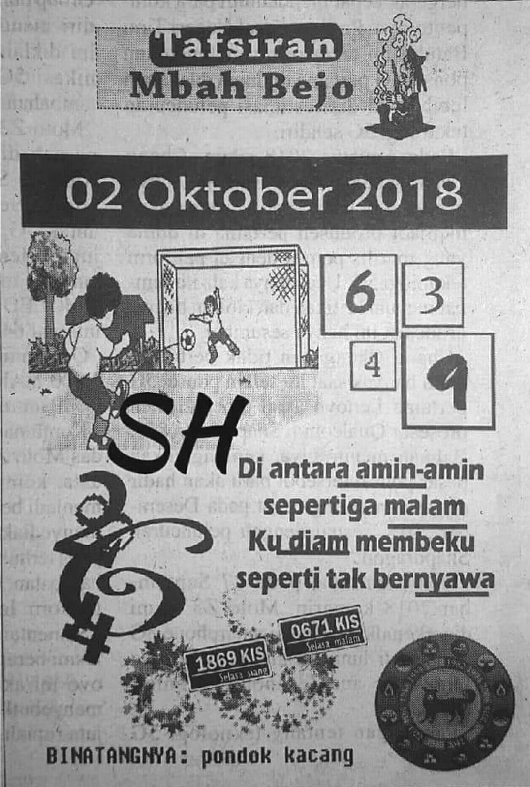 Forum Syair Hongkong Hk 2 Oktober 2018 Kode Syair Sgp Hk Sd Motesia