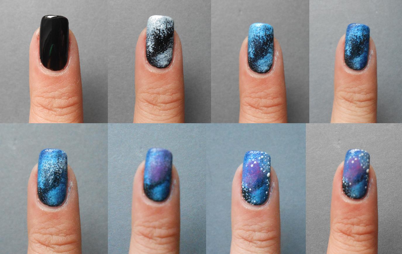 galaxy nails tumblr tutorial - photo #31