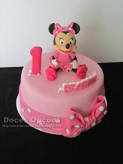 A Minnie no aniversário da Beatriz