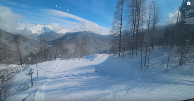 Beautiful Winter in Sochi, Russia