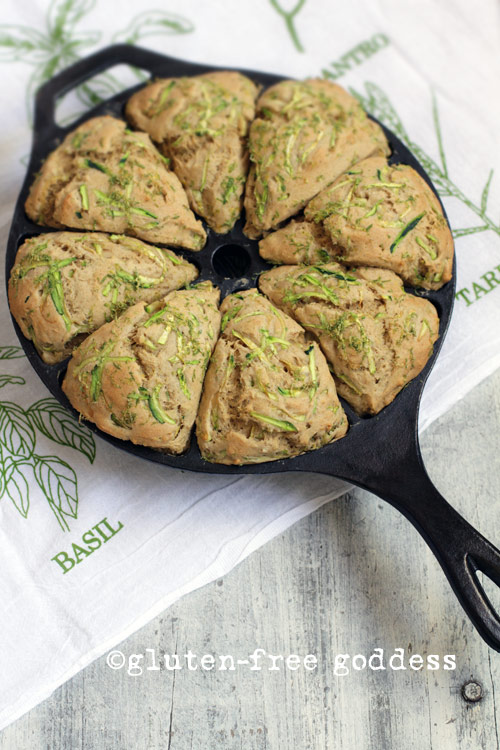 Zucchini lime scones from Gluten-Free Goddess